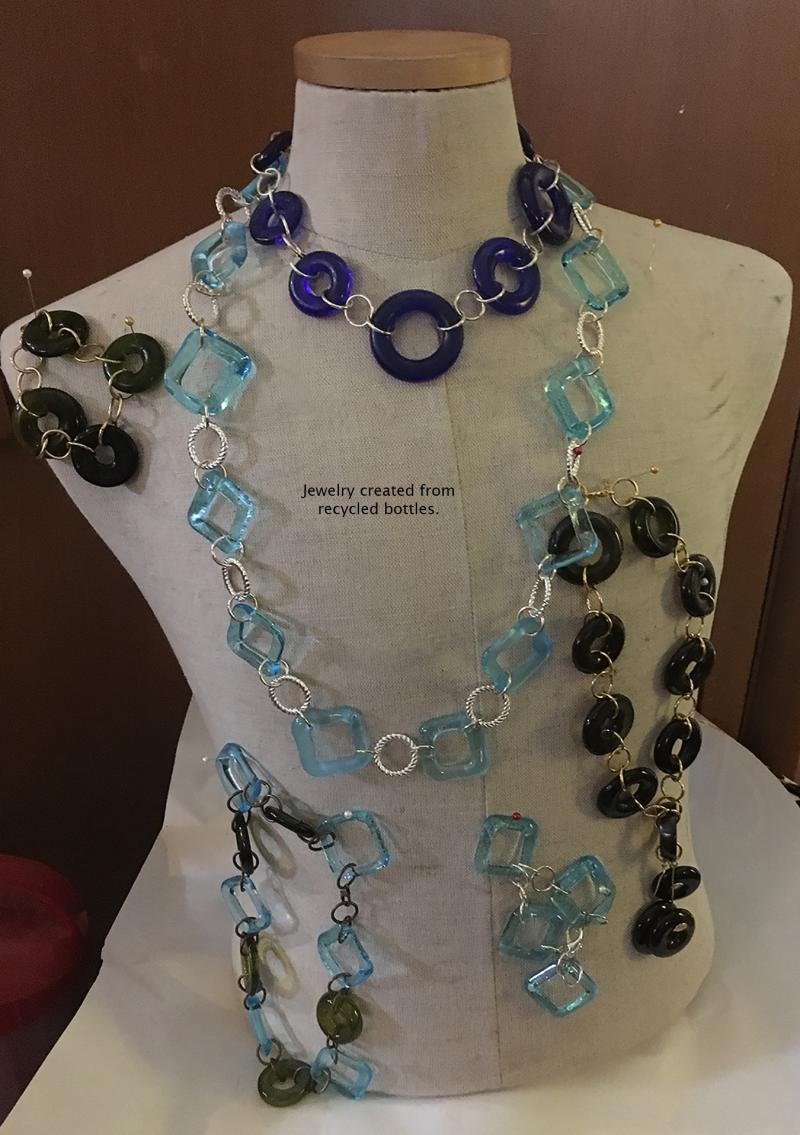 Recycled bottle necklaces
